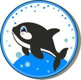 跳的凶手给鲸鱼喝水 库存例证