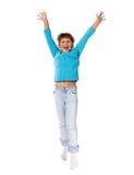 跳的女孩 免版税库存图片