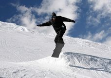 跳的挡雪板 免版税库存照片