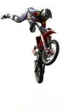 跳的摩托车越野赛 免版税库存图片