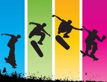 跳的溜冰者 库存照片