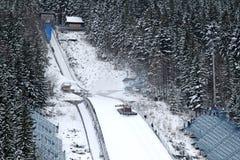 跳的滑雪zakopane 免版税图库摄影
