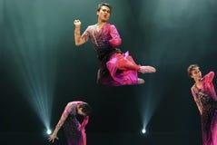 跳的现代舞蹈演员 免版税库存照片