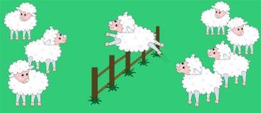 跳的绵羊 免版税库存图片