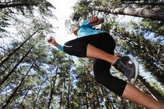 跳的赛跑者线索 图库摄影