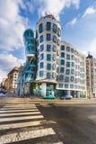 跳舞之家在布拉格的中心 免版税图库摄影