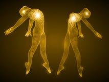 跳舞人和女孩形象的能量 皇族释放例证