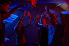 跳舞人海报减速火箭的向量 库存照片