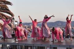 跳舞从乌克兰语Kyiv的合奏在儿童` s国际性组织 免版税库存照片