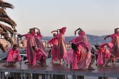 跳舞从乌克兰语Kyiv的合奏在儿童` s国际性组织 库存图片