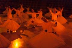 跳舞伊斯兰教苦行僧在科尼亚 库存照片