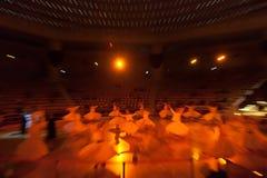 跳舞伊斯兰教苦行僧在科尼亚 免版税库存图片