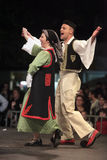跳舞传统的thrace 免版税库存图片