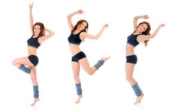 跳舞健身女孩。 免版税库存图片