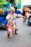 跳舞国王猴子 免版税库存图片