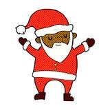 跳舞圣诞老人的可笑的动画片 库存例证