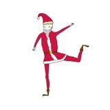 跳舞圣诞老人 免版税图库摄影