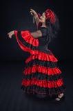 跳舞在佛拉明柯舞曲褂子的华尔兹 图库摄影