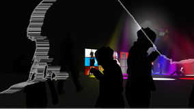跳舞在夜总会的人们 影视素材