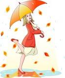 跳舞在雨中 皇族释放例证