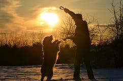 跳舞在雪 库存照片