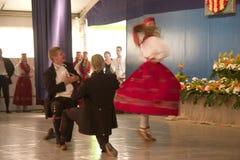 跳舞在Cantonigrà ² s 免版税库存照片
