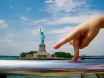 跳舞在Liberty夫人前面的手指 库存图片