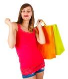 跳舞夫人Shopping和 库存图片