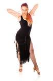 年轻跳舞妇女 免版税库存图片