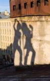 跳舞屋顶 免版税库存照片