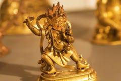 跳舞希瓦古铜形象,印地安艺术, 19世纪的例子 英王乔治一世至三世时期国家博物馆,第比利斯人工制品  免版税库存图片