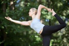 跳舞希瓦瑜伽姿势 库存图片