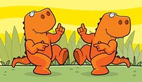 跳舞恐龙 库存照片