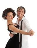 跳舞愉快微笑的夫妇 库存图片