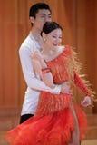 跳舞拉丁舞蹈的学生 图库摄影