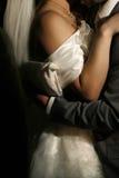 跳舞最近首先结婚 免版税库存照片
