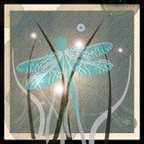 跳舞月亮蜻蜓 向量例证
