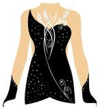 跳舞服装,滑冰的礼服,节奏体操服装 免版税库存图片