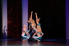 跳舞比赛在克列缅丘格,乌克兰 库存照片