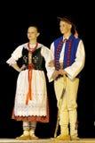 跳舞民间波兰小组 库存照片