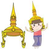 跳舞泰国的女孩 库存图片