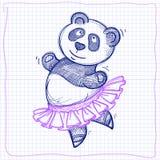 跳舞熊猫传染媒介剪影 库存照片
