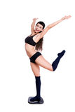 跳舞理想的缩放比例形状重量妇女的机体 库存照片
