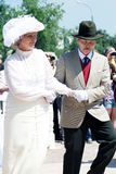 跳舞男人和妇女画象历史服装的 免版税库存图片