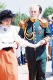 跳舞男人和妇女画象  库存图片