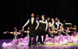 跳舞的伙伴以色列民间舞蹈这奥地利的世界舞蹈 库存照片