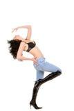 跳舞的俏丽的妇女年轻人 图库摄影