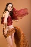 跳舞的俏丽的妇女 库存图片