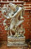跳舞的做的shiva雕象石头 库存照片
