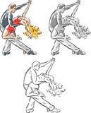 跳舞的垂度 库存照片